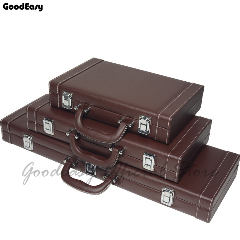 200/300/500 PU Storage Box Professional Texas Poker Chips Sets Leather Suitcase Casino Game Accessory Case Container