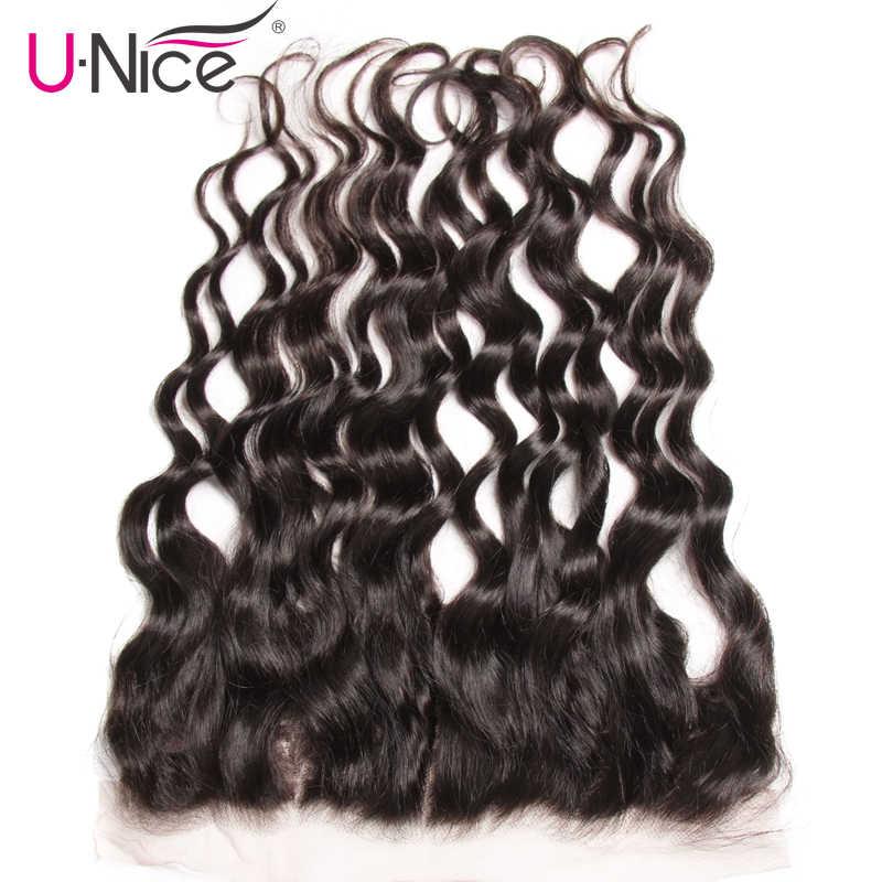Волосы UNICE, натуральные волнистые индийские человеческие волосы, 13X4, предварительно выщипывающиеся Человеческие волосы Remy, Бесплатная Часть 10-20 дюймов