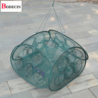 21 Inlets Mesh Fishing Net Folded Crab Trap Network Casting Crayfish Catcher Tank China Cages For