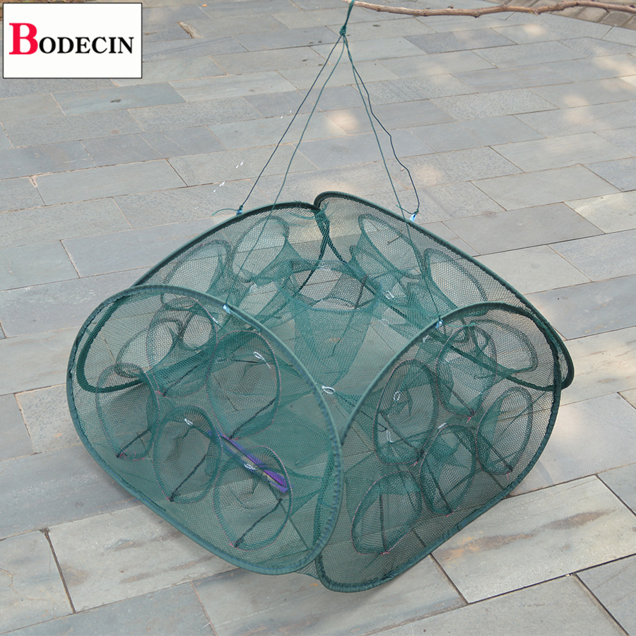 21 Inlets Mesh Fishing Net Folded Crab Trap Network Casting Crayfish Catcher Tank China Cages For Fish Cheap Networks Nets Tool lawaia 25m long 1m high casting nets fishing nets pull pull net farms railing anti bird netting fish ponds dragnet