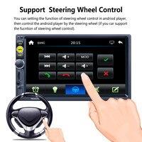 7 Pollici 4X50 W 2 DIN Bluetooth In Dash HD Touch schermo Auto Lettore Video Stereo AM/RDS Radio Supporto Specchio Link/Aux In