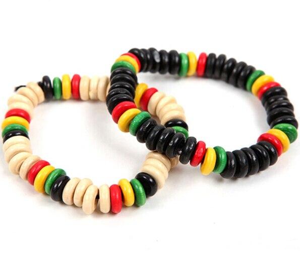 Free Shipping Men Women Jamaica Reggae Bracelet Hiphop Rock Fashion