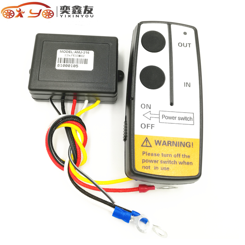 50pcs yixinyou universal 12v electric winch wireless remote control system truck for jeep atv winch warn ramsey with receiver [ 1000 x 1000 Pixel ]