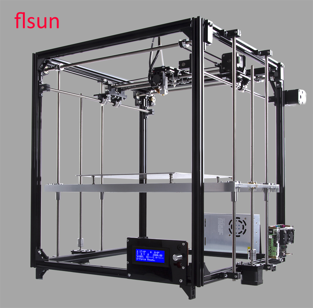 Aluminum Structrue 3d-Printer Diy Kit Printer 3D Printing Size 260*260*350mm With Two Rolls Filament SD Card 2018 flsun i3 3d printer diy kit dual nozzle touch screen large printing size 300 300 420mm two roll filament for gift