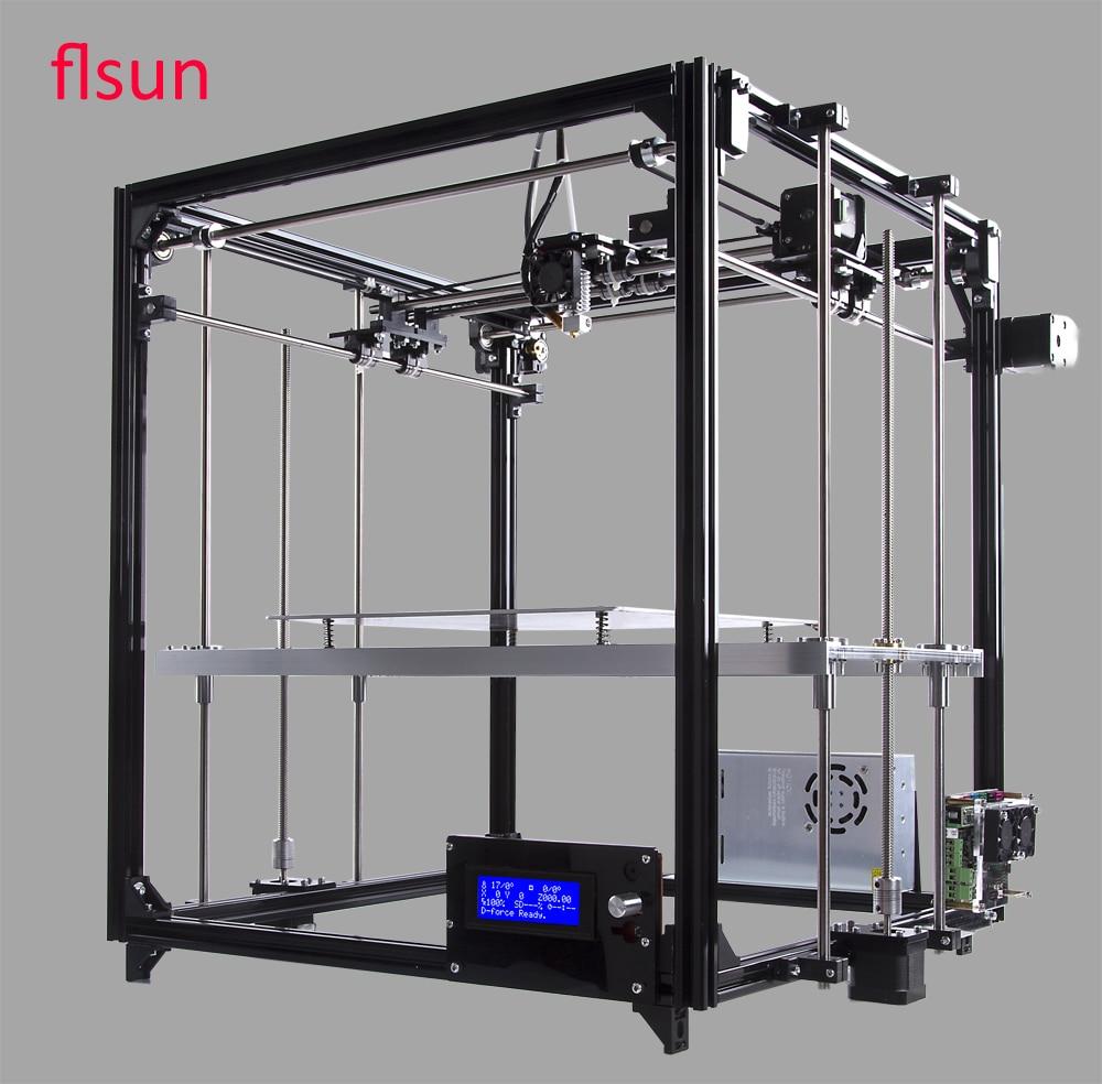 Aluminum Structrue 3d-Printer Diy Kit Printer 3D Printing Size 260*260*350mm With Two Rolls Filament SD Card flsun 3d printer big pulley kossel 3d printer with one roll filament sd card fast shipping
