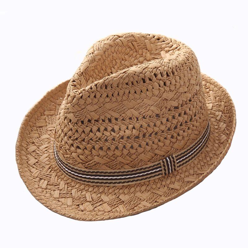a58bf9ec315 2018 new Fashion Handwork Women Summer Raffia straw Sun hat Boho Beach  Fedora hat Sunhat Trilby Men Panama Hat Gangster Cap-in Sun Hats from  Women s ...