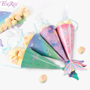 FENGRISE Candy Box The Little mermaid Birthday Party Decoration Kids Mermaid Party Supplies Mermaid Theme Party Favor Girl Gift