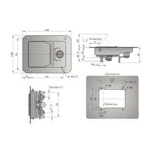 Image 5 - Boat Paddle Entry Door Lock Latch Trailer Panel Door/Tool Box Lock For Marine Yacht RV Camper Truck Built in Spring 5.51″x4.25″