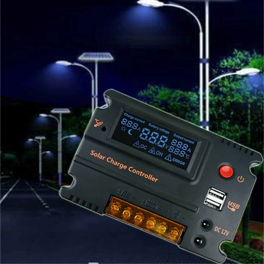 12v 24v 20a Solar Charge Controller Auto Switch Lcd Intelligent Pwm Street Light Autoswitch Panel Battery Regulator In Controllers From Home Improvement On