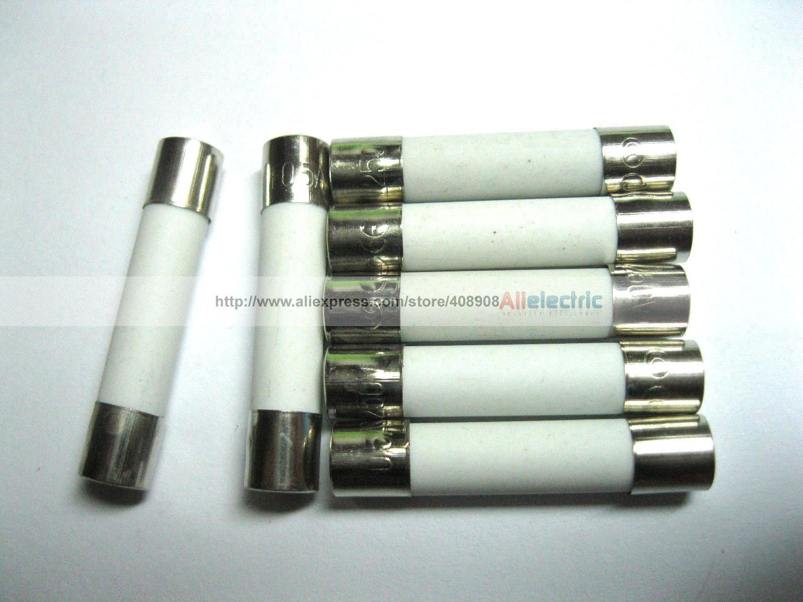 100 Pcs Fast Blow Ceramic Fuses 6 A 250V 6mm x 30mm цена