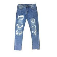 цена на New Hole Jeans Palace Hombre Men Jeans Baggy Denim Pants Men Trousers Cowboys Festa Junina Ripped Biker Jeans Streetwear Hip Hop
