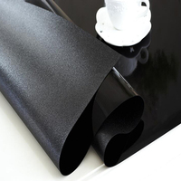 1.5mm waterproof oilproof table cloth Soft Glass square black PVC Wedding dining table mat transparent tablecover