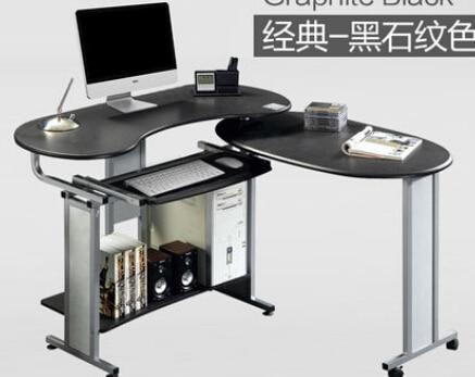 Computer Desk.. Double Desk Corner Table Table Household. Folding Mobile Environment