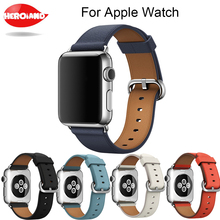 цена на 100% Genuine Leather Watchband for Apple Watch Band Series 3/2/1 Leather 42MM 38MM For Iwatch Strap Band Series 1 & 2 bracelet