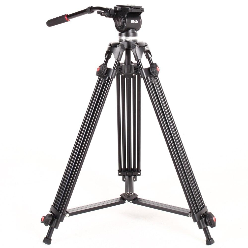 JIEYANG JY0508 JY-0508 Trépied Professionnel caméra trépied/Vidéo Trépied/Dslr VIDÉO Trépied Tête Fluide D'amortissement pour vidéo