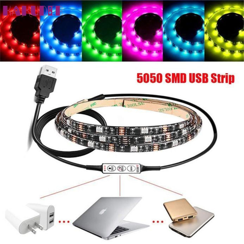 High quality 100cm multi colour rgb led strip light usb cable led tv high quality 100cm multi colour rgb led strip light usb cable led tv background lighting kit in novelty lighting from lights lighting on aliexpress aloadofball Image collections