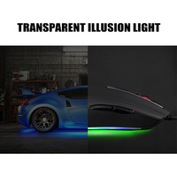 Professiona USB Wired Gaming Optical Mouse 5000 DPI LED Backlit 7 Keys Mice Gamer Mice X7 for Computer Laptop PC