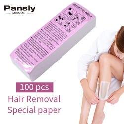 Pansly 100 шт. крем для удаления волос восковая лента для депиляции воск горячая пленка гранула твердого парафина Восковая бумага в рулоне