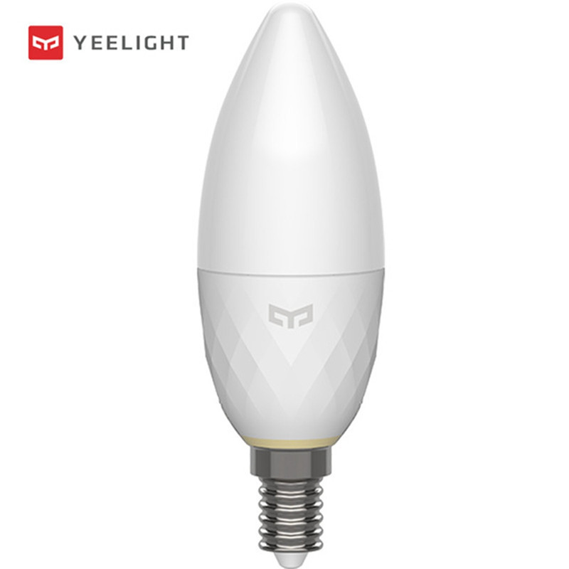Xiaomi Mijia Yeelight YLDP09YL Bluetooth Mesh Version E14 3.5W Smart LED Candle Light Bulb AC220V Brightness Can Be Adjusted