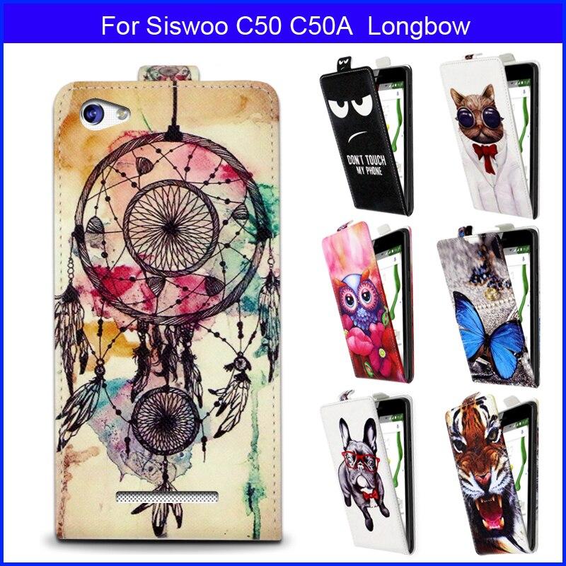 8b97caa69 Preço de fábrica Moda Padrões Dos Desenhos Animados de Luxo Virar para cima  e para baixo Caso PU de Couro para Siswoo C50 C50A Longbow