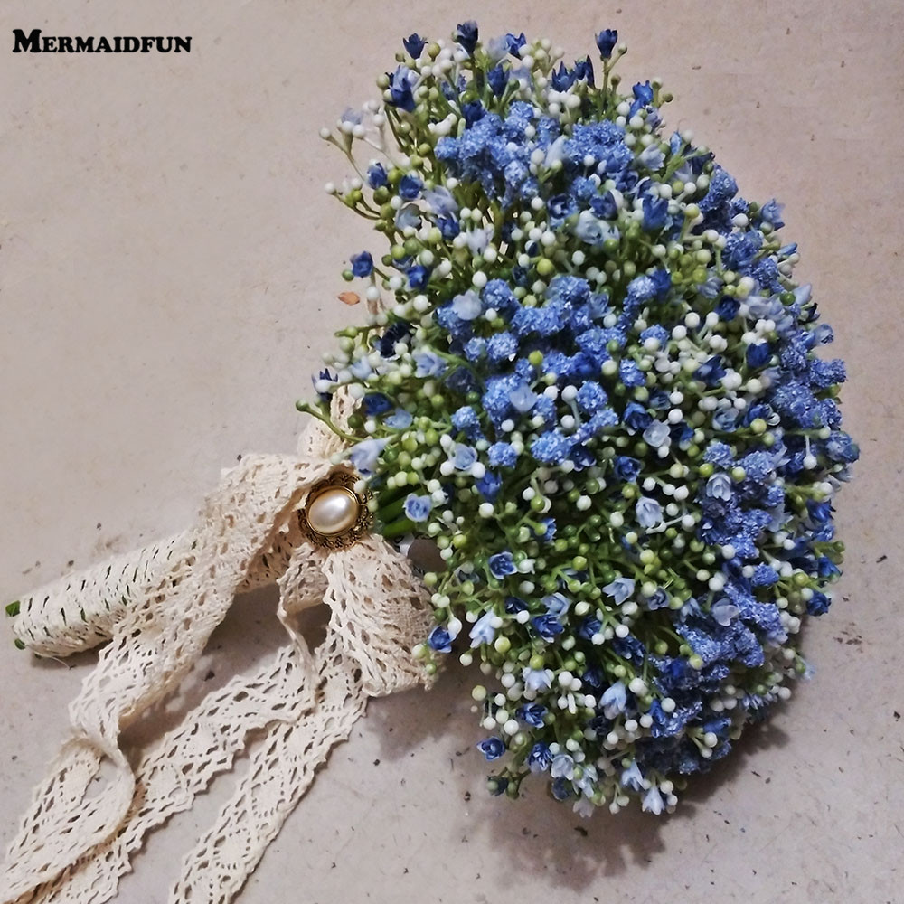 Real Photos Beautiful Artificial Little Flower Wedding Bouquet Birdal Bouquet for Bridesmaid Wedding Accessories