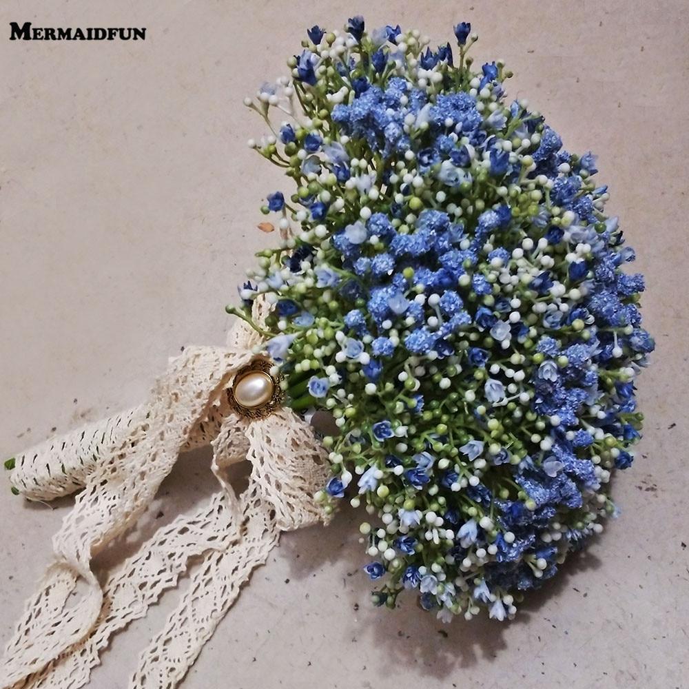 Real Photos Beautiful Artificial Little Flower Wedding Bouquet