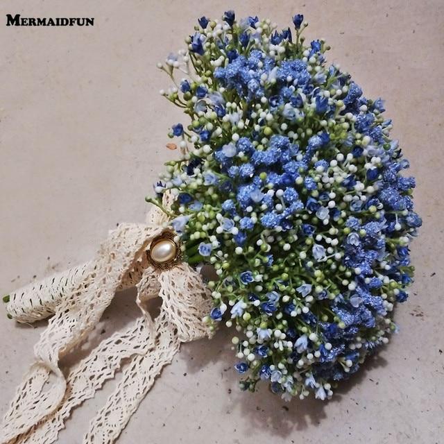 Real Photos Beautiful Artificial Little Flower Wedding Bouquet ...