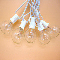 25Ft G40 Globe String Lights With 25 Clear Bulbs High Quality String Lights Perfect Indoor Outdoor