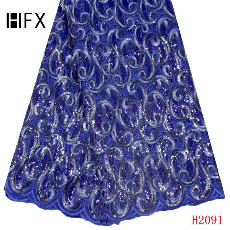 HFX Organza French Nigerian Sequins Lace Fabric 2019 High-end African Lace Fabric Wedding French Tulle Lace For Dress 2091-1HFX Organza French Nigerian Sequins Lace Fabric 2019 High-end African Lace Fabric Wedding French Tulle Lace For Dress 2091-1