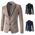 New style fashion warm man suit Two men single-breasted faux suede casual jackets