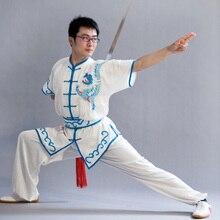 Customize Chinese wushu uniform Kungfu clothing Martial arts suit taolu clothes taichi sword outfit for man woman boy girl child