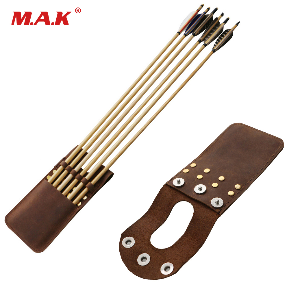 3 Color Leather Arrow Quiver Capable Of Loading 6 Arrows Suitable For Recurve Bow Compound Bow For Archery Hunting Shooting