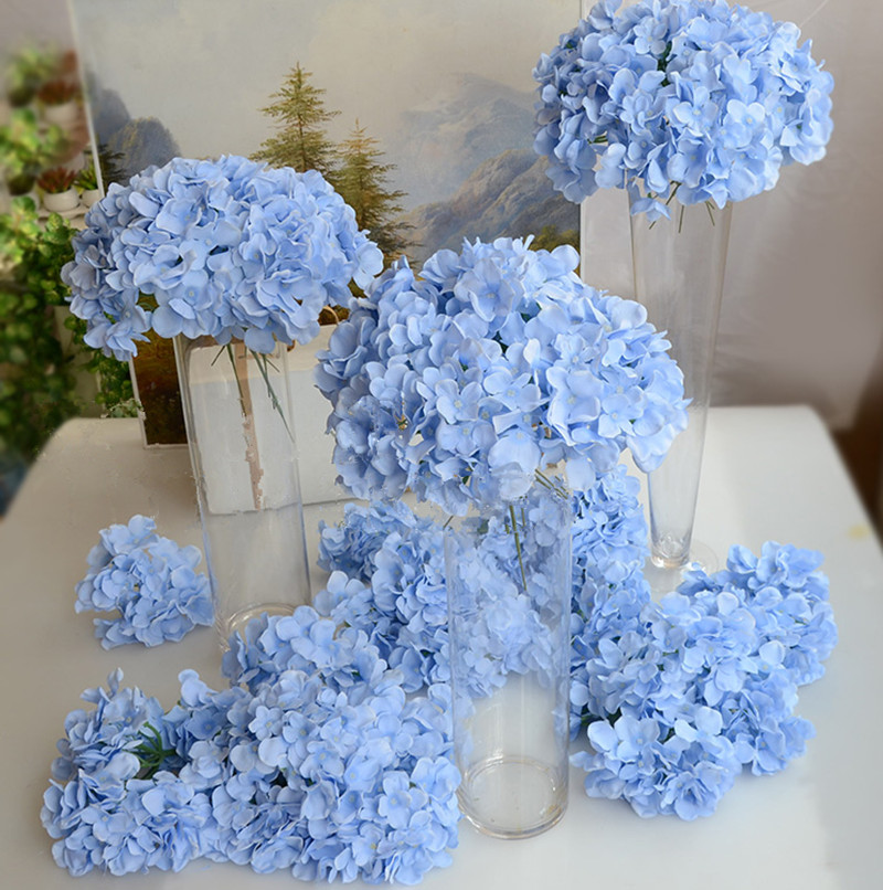 Artificial Flower Wedding Centerpieces: Hydrangea Flower Heads With Stem Artificial Flowers