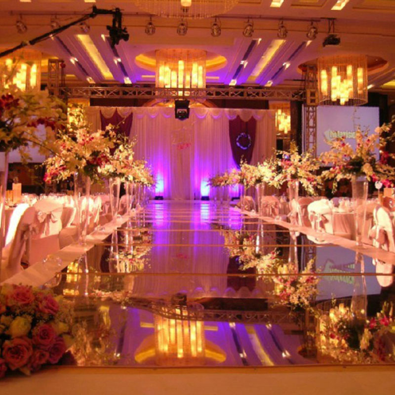1.2X20 Meter Wedding Mirror Carpet Bi-sided Silver T Stage Carpet Runner For Wedding Party Banquet 0.12mm Thickness