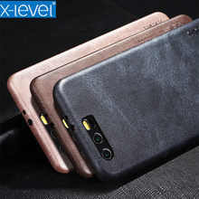 Honor 10 V10 Phone Case X-Level PU Leather Phone Case for Honor 9 lite Honor V9 Vingate Leather Cover For Huawei Honor 6X 7X(China)