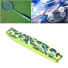 Tennis Badminton Racket Grip Tape Anti Slip Soft Racket Grip Wrap Overgrip Tape for Sports Fishing Pole Jump Rope (Green)(China)