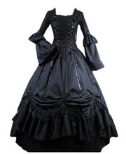 (GT007) Lolita Dresses Long Sleeveless New Arrival Victorian Gothic Dress Gothic Renaissance Costumes For Halloween Customized