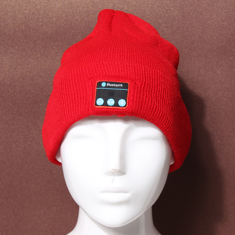 56-62 cm Soft Warm Hat Wireless Bluetooth V3.0+EDR Headset Headphone Smart Cap Speaker Mic Bluetooth Hats L3EF