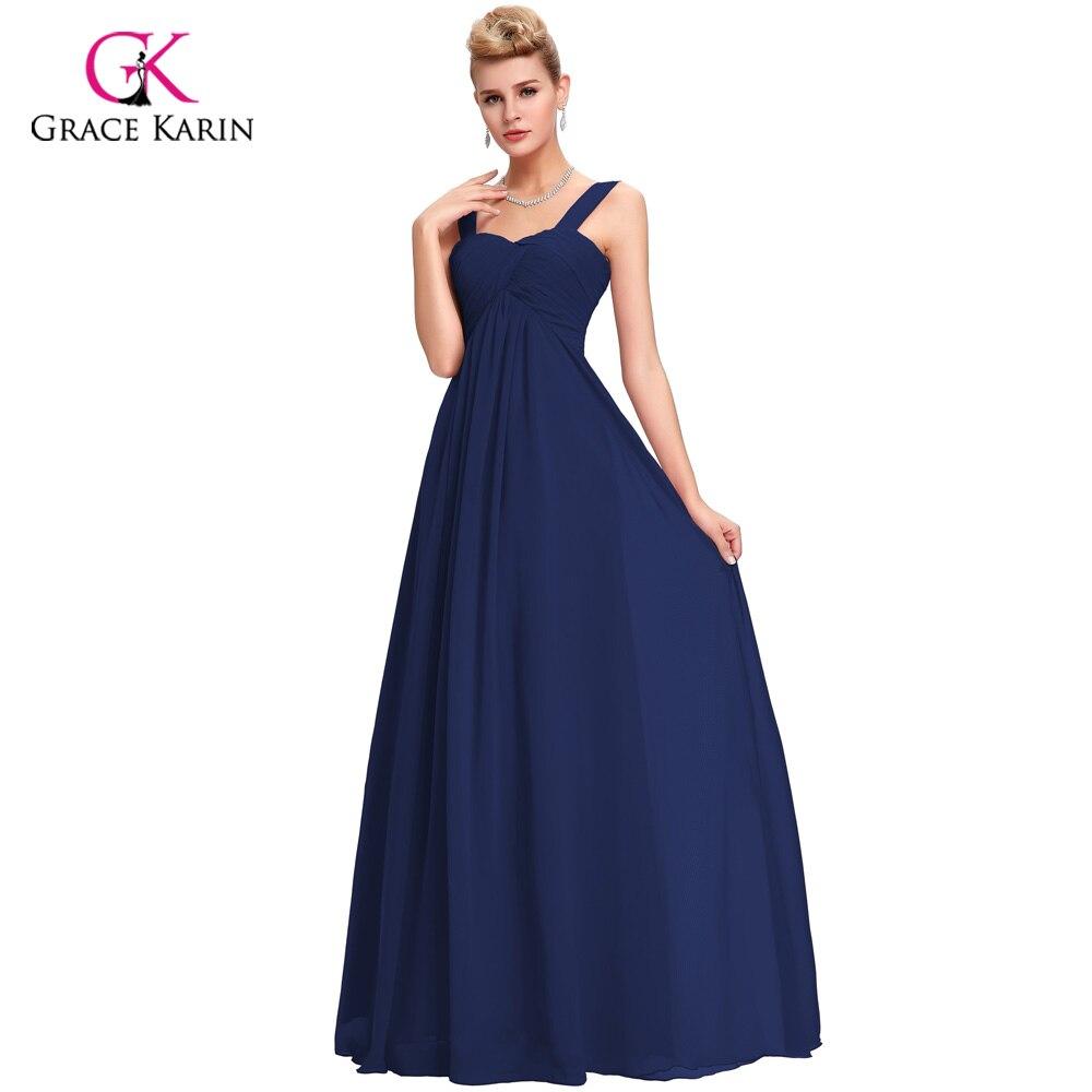 Robe de Soiree White Evening Dresses 2018 Grace Karin Chiffon ...
