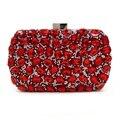 Luxury Evening Clutch Bags Red Handcraft Crystal Clutch Purse Golden Diamante Women Party Evening Bags Bride Handbags Sac Femme