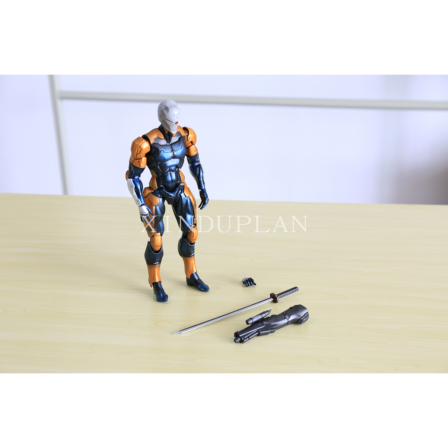 XINDUPLAN Play Arts Kai Metal Gear Solid V Gray fox Action Figure Toys 24cm Kids Gift Collection Model 0946 metal gear solid v the phantom pain play arts flaming man action figure super hero