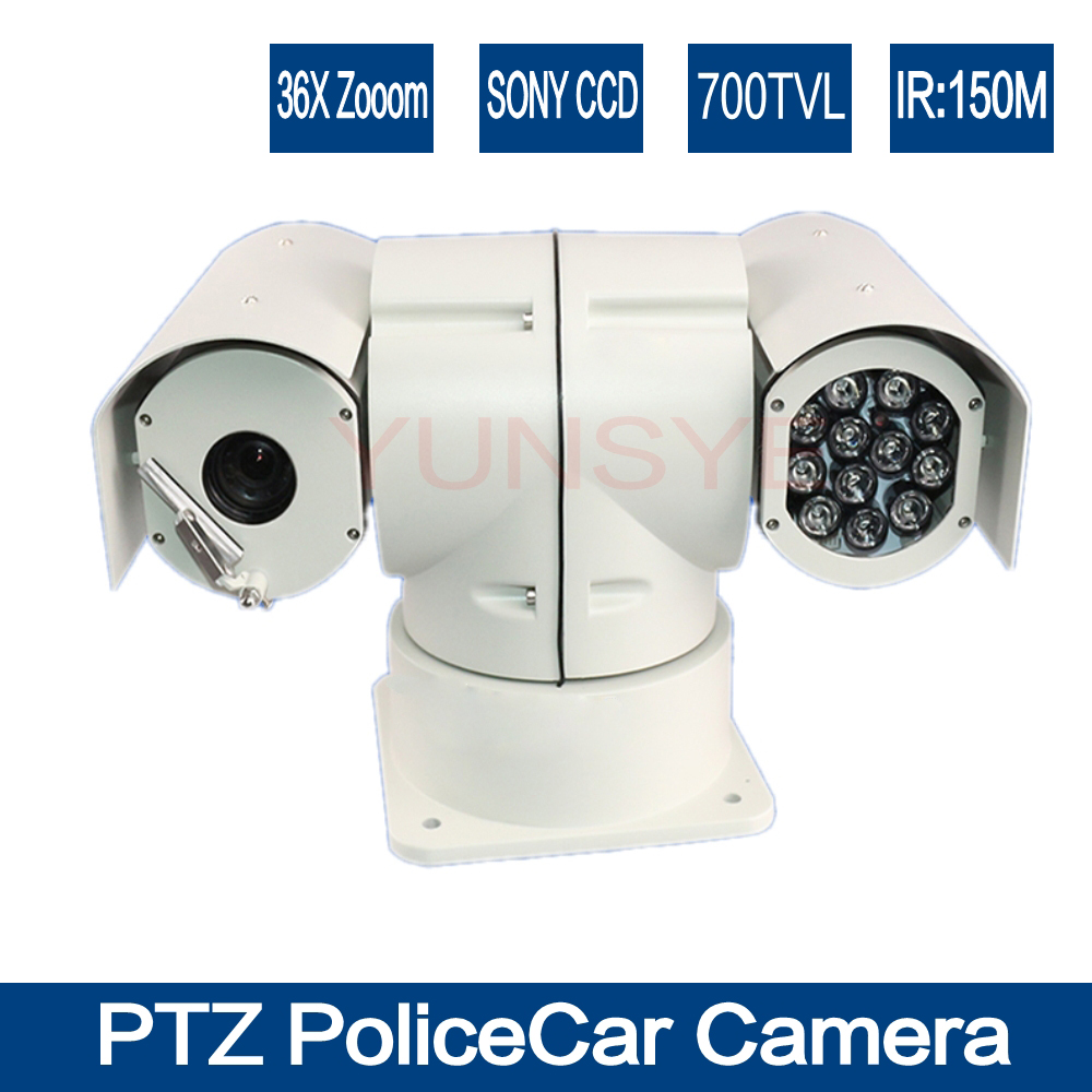 YUNSYE Police Vibration Proof Mobile IR 36x ZOOM CAR PTZ CAMERA CCD Effio Vehicle High Speed Camera 36X Zoom