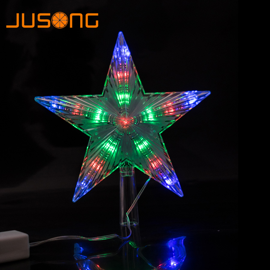 Jusong Christmas Tree Top Star 2pcs Led String Indoor