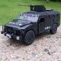 Candice guo aleación modelo de coche de policía regimiento hombre delicado vehículo Militar acustóptica tire hacia atrás del motor de plástico de regalo de cumpleaños