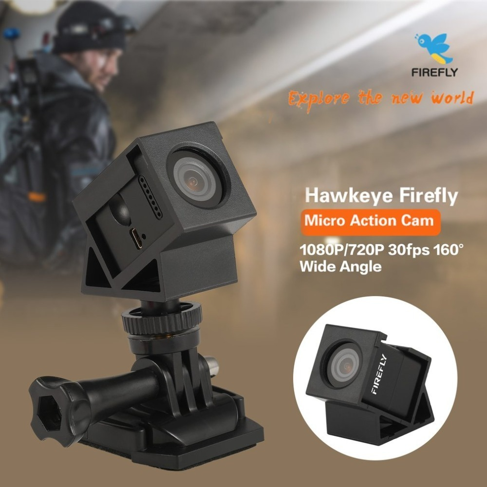 лучшая цена Hawkeye Firefly Micro Action Camera 1080P Mini Recording FPV Cam 160 Wide Angle for 90 100 130 Racing Drone Quadcopter Aircraft