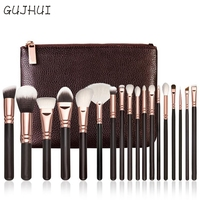 Hot Best Deal 18 Pcs Rose Gold Makeup Brush Complete Eye Set Tools Powder Blending Brush