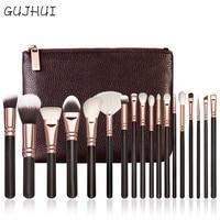 Hot Best Deal 18 Pcs Rose Gold Makeup Brush Complete Eye Set Tools Powder Blending Brush