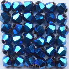 4mm Plating Color Loose Crystal Beads Faceted Glass Bicone for Jewelry Making Diy Needlework Wholesale