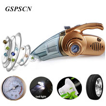 GSPSCN Portable Handheld 150 PSI Car Auto Inflatable pump Air Compressor with 120W LED Light Wet and Dry Dual Use Vacuum Cleaner