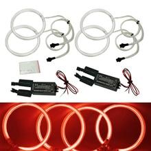 4X120 мм красный автомобиль CCFL Halo Кольца Ангельские глазки LED Фары для автомобиля для BMW e32.e34. e30.e39oem авто свет Наборы # fd-4164
